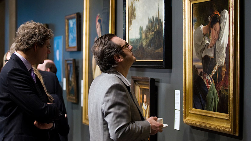 Seven Old Master and Nineteenth Century paintings looted by Nazi's are unveiled at the Montreal Museum of Fine Arts in Montreal